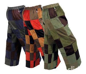 corduroy patchwork pants - Pi Pants