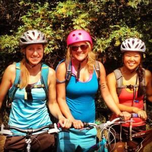 Heidi, bike Buddha, featured on left